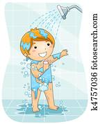 Kid in the Shower