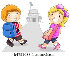 Kids Going to School