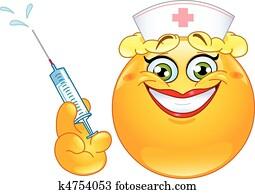 krankenschwester, emoticon