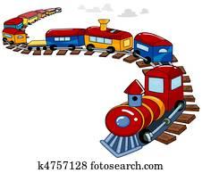 Toy Train Background