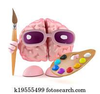 3d Brain artist