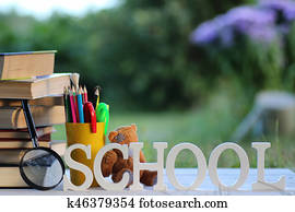 educaion book stack page outdoor