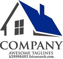 haus, roofing, logo