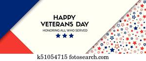 Vector banner for veterans day. size