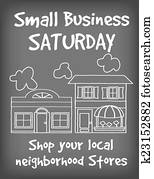 Small Business Saturday Chalk Sign