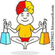 experte, guru, shoppen, logo