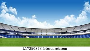 Sports background - stadium