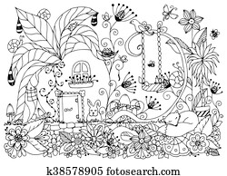 radishes clip art royalty free 6 150 radishes clipart vector eps High Density Vegetable Garden vector illustration zen tangle house radishes doodle flowers garden nature forest