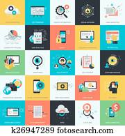 flache, design, webentwicklung, heiligenbilder