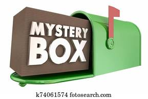 Mystery Box Mailbox Package Unknown Surprise Delivery 3d Illustration