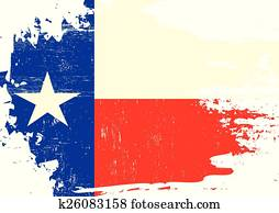 Scratched Texas Flag