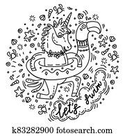 Lets swim unicorn
