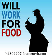 Will Work For Food Homeless Man