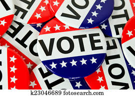 American voting buttons