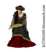 A Woman Reading a Book, 3d CG