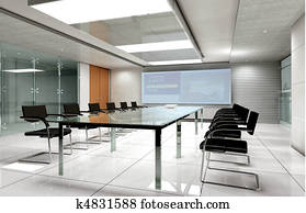 3D rendering of a Conference room