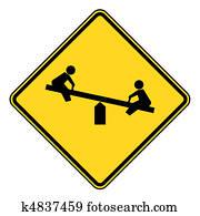 Children playground sign