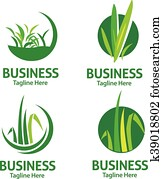 lawn care logo set