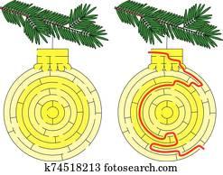 Christmas ornament maze