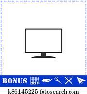 Monitor icon flat