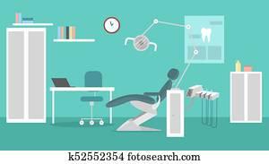 Office of dentist.