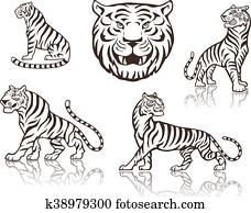 Hase Als Tiger Jäger Clip Art K5140459 Fotosearch