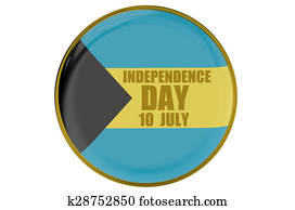 Bahamas Independence Day, concept