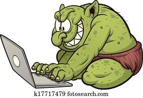 dicker, troll