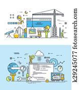 Flat concepts for web development