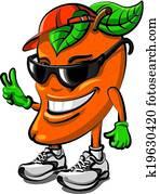 mango fruit cartoon