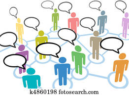 People talk social speech communication network connections