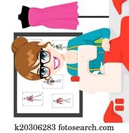 Dressmaker Woman Using Sewing Machine
