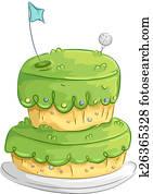 Golf Cake Design