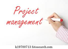 Project management on whiteboard