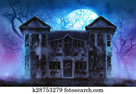 Haunted horror house.