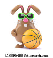 3d Basketball bunny