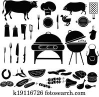 Barbeque Icon Set