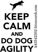 behalten, gelassen, und, machen, hund, behendigkeit