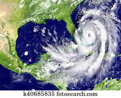 Hurricane Matthew approaching Florida