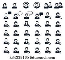 People icon. Human Resources Icons