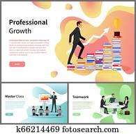 professionelle, wachstum, meister, klasse, und, gemeinschaftsarbeit