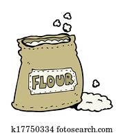 Dessins dessin anim sac farine k17750994 recherche de clip arts d 39 illustrations et d - Coloriage farine ...