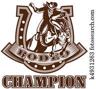 American Rodeo Cowboy