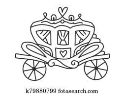 ausmalbilder, für, erwachsene, und, kindern, mit, a, schön, princess., dass, königin, wellen