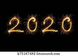 frohes neues jahr, 2020.