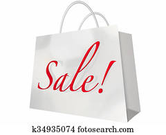 Sale Shopping Bag Customer Store Event Save Money