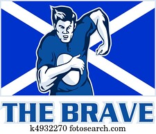 Scottish rugby player scotland flag