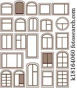 set isolated windows icons