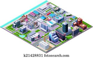 Isometric industrial and business c