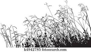 Meadow Grass Silhouette